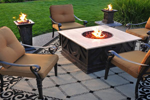 Outdoor Flaming Table