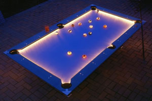 Outdoor Lighted Pool Table